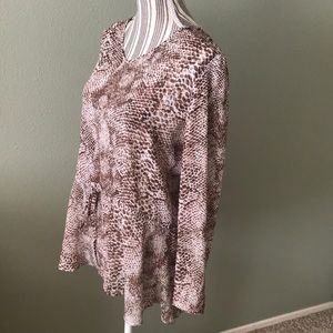 Susan Graver Animal Print top